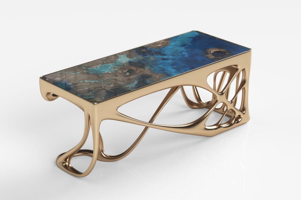 Нанесение жидкого металла на мебель